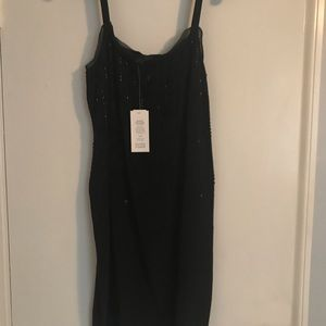 Eileen Fisher Black beaded silk dress size 6